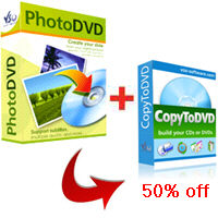 PhotoDVD + CopyToDVD 50% off